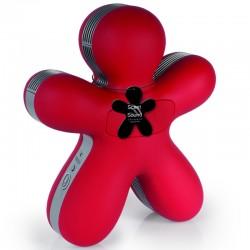 Elektrinis kvapų difuzorius GEORGE su Bluetooth garsiakalbiu Red